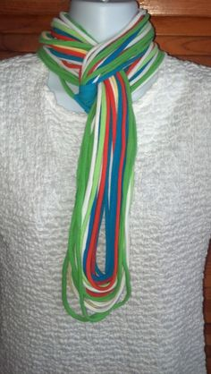 Recycled T Shirt Scarf  Eco Friendly by LonestarFashions on Etsy, $14.00