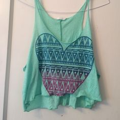 lush green crop top size S Gently preowned but lots of life left! Lush Tops Crop Tops