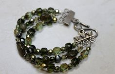 Dusky Green Labradorite Pearl and Crystal by BeadyEyedBird on Etsy