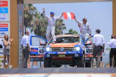 Luis Felipe Pinillos and Ive Bromberg #peru #dakar2013 #rally #nomorepoverty #carreracontralapobreza #techo #ngo #youth #collaborate #volunteer