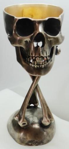 UNIQUE-MUSEUM-18th-C-Georgian-Doctors-Memento-Mori-Skull-Silvered-Wine-Goblet