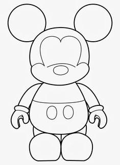 Molde de Mickey. | para pintar e imprimir | Pinterest | Ratones ...
