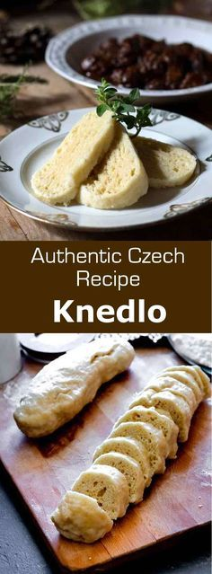 Czech Republic: Knedlíky Knedliky are simple boiled dumplings from the Czech Republic, that are served on the side of many traditional dishes, including goulash. Slovak Recipes, Czech Recipes, Ethnic Recipes, Bread Dumplings Recipes, Dumpling Recipe, Hungarian Dumplings Recipe, Recipes, Sausages, Deserts