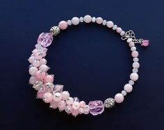 Short Necklace, Pearl Necklace, Beaded Necklace, Charm Braclets, Beaded Jewelry, Handmade Jewelry, Bead Art, Glass Beads, Jewelry Making