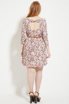 5e5f47e482 Women s Plus Size Floral Crochet Cold Shoulder Dress - Xhilaration ...