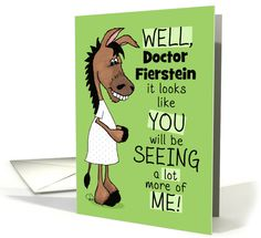 Customizable Name Congratulations on Becoming a Proctologist-Donkey card