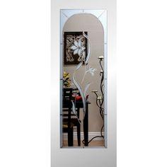 reliabilt 1 lite solid core non bored etched interior slab door