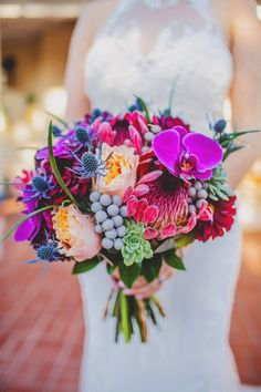 Bouquet of the Week Wedding Bouquet of the Week ~ we ♥ this! Wedding Bouquet of the Week ~ we ♥ this! Spring Wedding Bouquets, Flower Bouquet Wedding, Floral Wedding, Protea Wedding, Orange Wedding, Summer Wedding Flowers, Tropical Wedding Bouquets, Wedding Navy, Summer Weddings