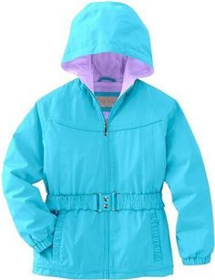 NWT Girls Big Chill Belted Turquoise Jacket Small (7/8) #BigChill #BasicJacket #Everyday