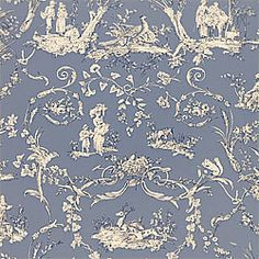Pattern PAYSANNERIE TOILE Wallpaper Collection Toile Portfolio Colorway Wedgewood Blue Construction Wallpaper Width cm) Repeat V cm) Match Drop Strippable Washable Unpasted Pretrimmed Dining Room Wallpaper, Toile Wallpaper, View Wallpaper, Construction Wallpaper, Monochromatic Room, Dining Room Paint Colors, Cool Fabric, Designer Wallpaper, Home Decor Inspiration