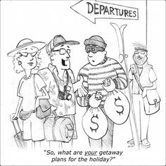 """Thoughts for Pennies"" - Getaway - Cartoon by Glenn Storm."
