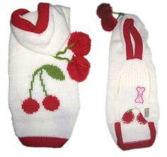 Dog Sweaters Hoodies Cherries Yorkie's Clothes-yorkie clothes, yorkie dog sweaters