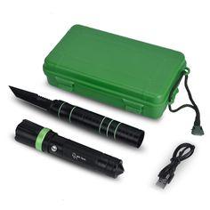 MHtech Multifunktionale Taktische Taschenlampe mit Messer Selbstverteidigung Überlebens Einstellbare Cree LED Taschenlampe (18650 Batterie nicht eingeschlossen) für Fahrzeug Jagd Camping Outdoor: Amazon.de: Sport & Freizeit http://amzn.to/2qnkzME