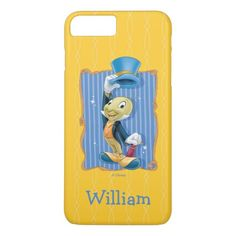 Jiminy Cricket Lifting His Hat | Your Name iPhone 8 Plus/7 Plus Case  #turtle #celebrities #DIY cricket indian, cricket projects, cricket illustration Iphone 9, Iphone 8 Plus, Iphone Cases, Cricket Poster, Disney Phone Cases, Jiminy Cricket, School Lunch Box, Birthday Gifts For Kids, Cute Disney