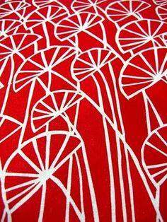 Umbrella Prints--Hand Screen Printed Fabrics