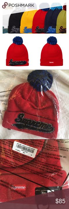 NWT ❤️ SUPREME X NEW ERA CHENILLE SCRIPT BEANIE New ever worn 100% authentic, sealed and sold out. From F/W 2016 release week 1. Ships same or next day from my smoke free home. Makes the perfect gift ❤️ Supreme Accessories Hats
