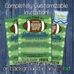 Printable Football Birthday Invitation / Sports VIP Invite