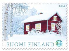 Postin verkkokauppa Ulkomaille Punainen tupa - 1,30e ulkomaan ikimerkki