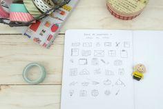 Desenhos para planner, bullet journal e agendas - A.Craft