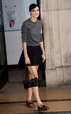 Jessica Stam Mini Skirt - Mini Skirt Lookbook - StyleBistro