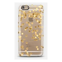 LIMITED EDITION GOLD iPhone 6 plus Transparent Case iPhone ($40) ❤ liked on Polyvore featuring accessories, tech accessories, phone cases, phones, iphone and cases