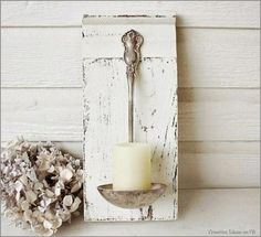 Porta-candele mestolo