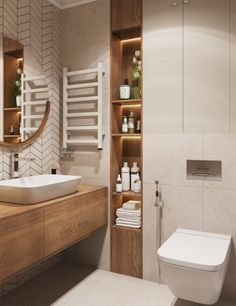 40 Small Bathroom Design Ideas + Tips To Make A Bathroom Look Bigger — THE NORDROOM Washroom Design, Toilet Design, Bathroom Design Luxury, Bathroom Layout, Modern Bathroom Design, Small Bathroom Interior, Beige Bathroom, Wooden Bathroom, Bathroom Showers