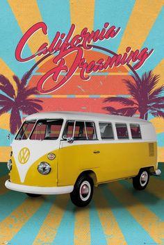 9720f75a8ca VW Camper Cali Retro Maxi Poster