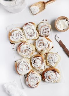 These homemade cinnamon rolls will be perfect for breakfast on Sunday morning.