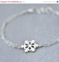 SALE Snowflake Bracelet Sterling Silver by TheJewelryGirlsPlace
