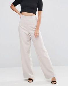 Pantaloni dama eleganti cu talie inalta din stofa subtire