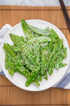 Quick Sesame Snow Peas Recipe