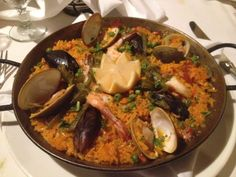 Paella from Caravela's in Tarrytown, NY