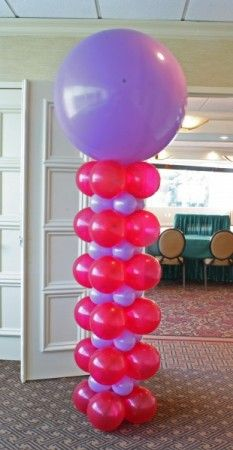 Square Pack Balloon Column   Made them my self with black ,gold and white for my husband's 50th bday party looked so nice and easy to make