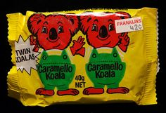 I don't know what's more old school, the twin Caramello Koala or that it cost $0.42 from Franklins!