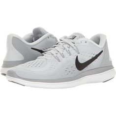 SEE IT - Nike Flex RN 2017 (Pure Platinum/Black/Wolf Grey/Cool Grey) Women's Running Shoes Leave the rest behind with the light and responsive Flex RN Predecessor: Flex 2016 RN. Black Sports Shoes, Gray Nike Shoes, Black Lace Shoes, Nike Free Shoes, Nike Shoes Outlet, Black Running Shoes, Running Shoes Nike, Shoes Sport, Hiking Shoes
