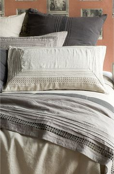 Crellini Orba Natural Linen Bedcover Set by Bianca Lorenne