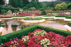 Discover the botanical beauty of Victoria and Vancouver, where a blend of Asian, First Nation and European aesthetics combine to create some of the world's most stunning gardens. Italian Garden, Vancouver Island, Love Flowers, British Columbia, West Coast, Victoria, Mansions, Landscape, House Styles