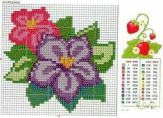 123 Cross Stitch, Cross Stitch Fruit, Small Cross Stitch, Cross Stitch Cards, Cross Stitch Flowers, Counted Cross Stitch Patterns, Cross Stitch Designs, Cross Stitch Embroidery, Hand Embroidery