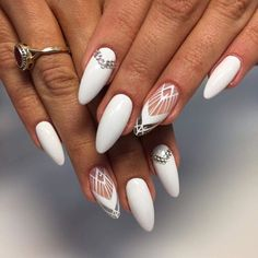 White nails Nail art Nail Design, Nail Art, Nail Salon, Irvine, Newport Beach