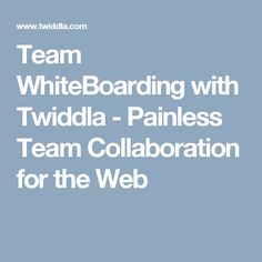 Team WhiteBoarding with Twiddla - Painless Team Collaboration for the Web
