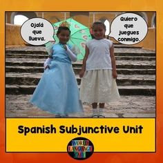 Spanish Subjunctive Unit - 115 pages. Everything you need to teach the formation and usage of the present subjunctive tense. Includes a teaching schedule, formation notes, subjunctive and indicative triggers word wall words and class notes, games, Internet activities and much more.