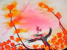 Bird of Paradise by RobertsOriginalArt on Etsy Bird Art, Paradise, Watercolor, Etsy, Painting, Watercolor Painting, Painting Art, Paintings, Paint