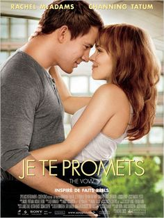 Je te promets- 2012-      * * the vow A car accident puts Paige in a coma, and when she wakes up with severe memory loss, her husband Leo works to win her heart again.
