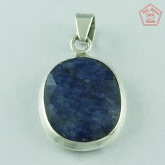 Beautiful Design 925 Sterling Silver Sapphire Agate Pendant Jewellery P2670  | eBay