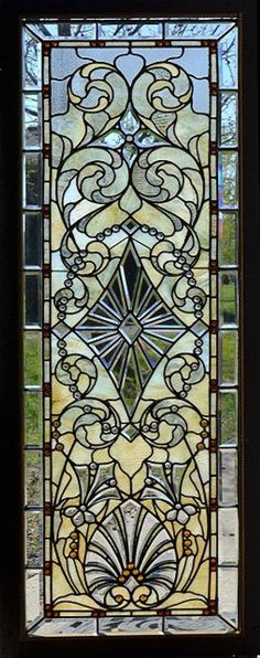 Door Wall Sticker *Stained Glass with Bevels* / Self-Adhesive Vinyl Decal Poster Mural / Self-Adhesive Wallpaper – Verre et de vitrailes Stained Glass Door, Stained Glass Designs, Stained Glass Panels, Stained Glass Projects, Stained Glass Patterns, Leaded Glass, Beveled Glass, Mosaic Glass, Window Glass