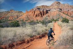 Palo Duro Canyon, Texas - over 30 miles of trails, You can walk, you can ride your horse, You can ride your bike...
