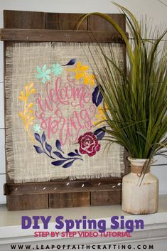 DIY Spring decor using the Cricut EasyPress burlap, and iron-on vinyl. Learn all about the Cricut EasyPress 2 and how it works! decor diy cricut Cricut EasyPress Projects Plus Heat Press vs. EasyPress 2 - Leap of Faith Crafting Diy Crafts Videos, Crafts To Make, Easy Crafts, Burlap Crafts, Rustic Crafts, Wood Crafts, Iron On Vinyl, Diy Home Decor On A Budget, Easter Crafts For Kids