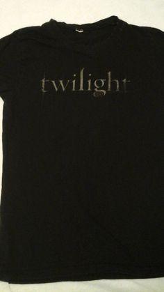Girls/Womens Black Twilight Tshirt Size Small