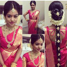Simple Patdu Sari and accessories, especially love the hair
